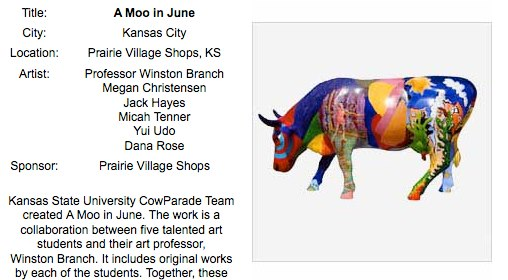 A moo in June - painted cow by Winston Branch