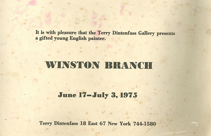 Invitation Terry Dinterfass Gallery New York 1975