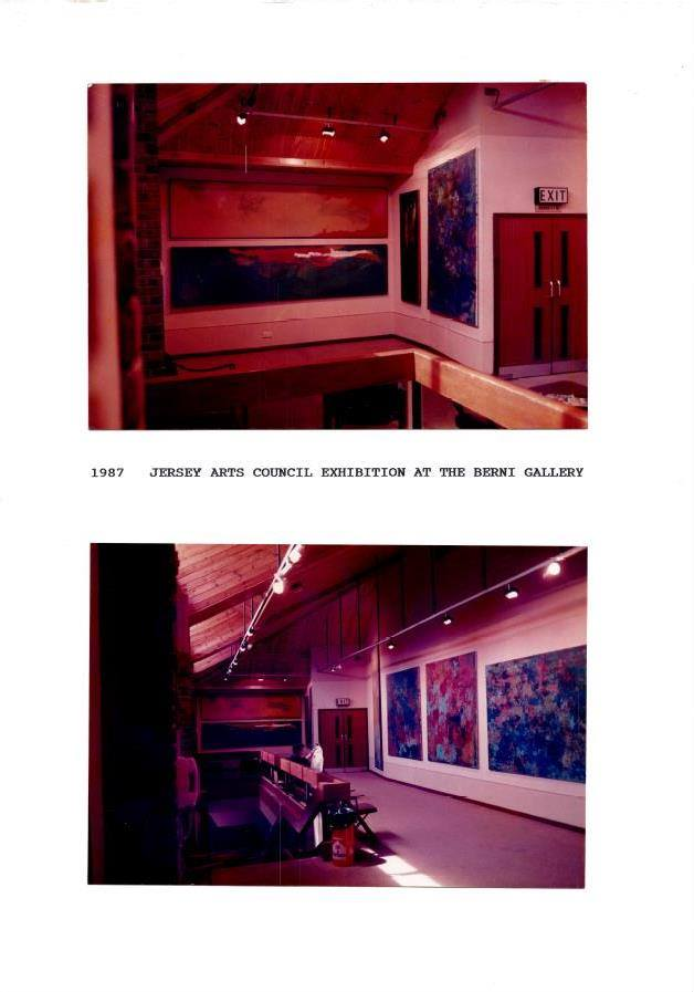 One man show at The Jersey Arts Council Art Gallery .Jersey 1985
