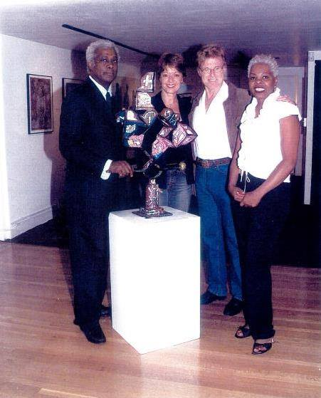 With Robert Redford and Sibylle Szaggars, Joyce gordon Gallery, Oakland CA,