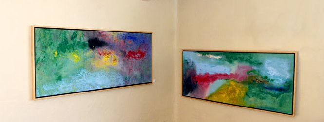 Two painting by Winston Branch