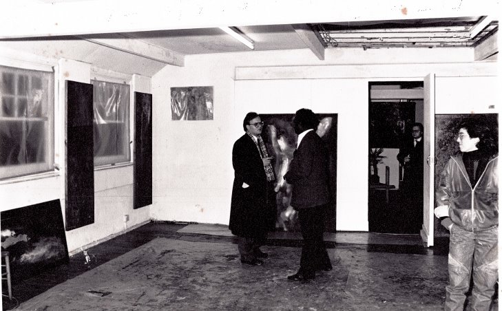 Studio in London, Whitfield Place 1982